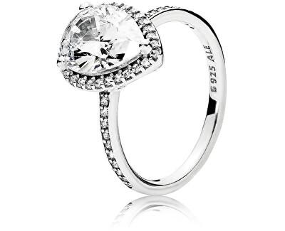 Oslnivý strieborný prsteň 196251CZ