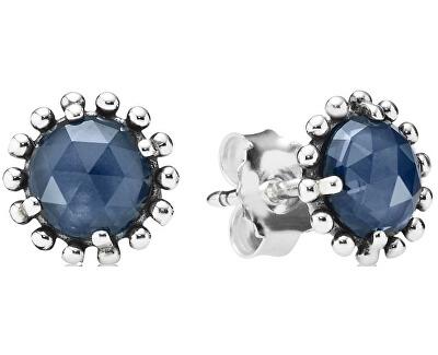Cercei din argint cu cristal Albastru 290561NBC
