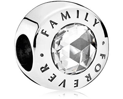 Șirag de mărgele de argint pentru totdeauna Familie 791884CZ