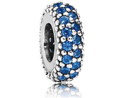 Accesoriu din argintcu pietre zirconiu albastre - brățară tip PANDORA 791359NCB