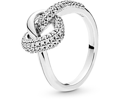Stříbrný prsten Propletené srdce 198086CZ