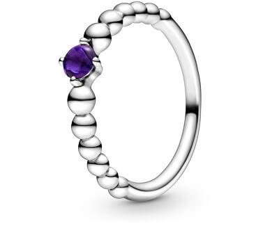 Inel din argint pentru femeile născute in februarie 198867C03