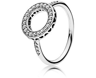 Strieborný trblietavý prsteň 191039CZ