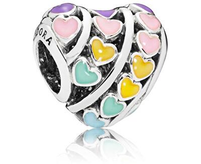 Zamilovaný korálek Pestrobarevná srdce 797019ENMX