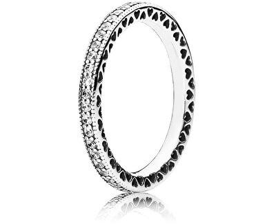 Zamilovaný prsten s krystaly 190963CZ