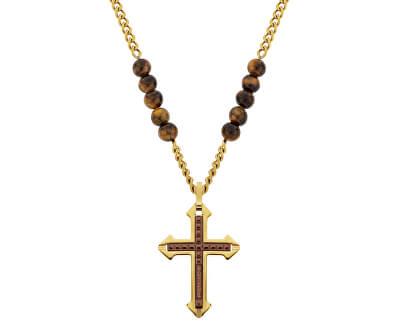 Colier pentru bărbați cu cruce Cuillin PJ26568PSG