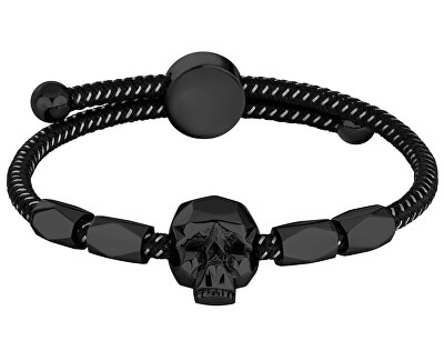 Brățară cu craniu pentru bărbați Konso PJ26554BLB/01