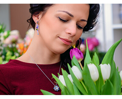 Pestrobarevné náušnice Flower 5239 70