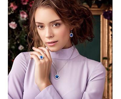 Stříbrný náhrdelník Camellia 6106 63 (řetízek, přívěsek)