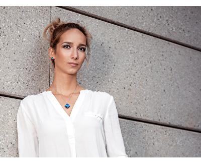 Silber Halskette mit Kristall Millie 6068 46