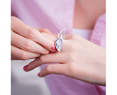 Offener Silber Ring mit Kristall Crystal Wings 6066 00