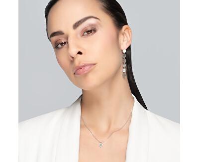 Minimalistický ocelový náhrdelník Essential s kubickou zirkonií 7433 00