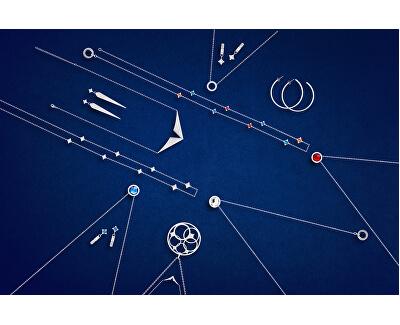 Oceľový náhrdelník s českým krištáľom Gemini 7339 00