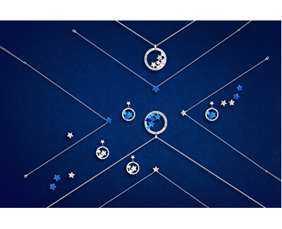 Oceľový náhrdelník s hviezdičkou Akva Virgo 7342 67