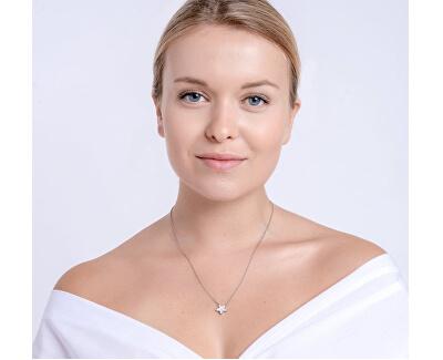 Oceľový náhrdelník s matnou hviezdičkou Virgo 7342 10