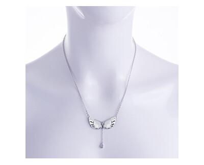 Colier din argint cu cristal aripi 6064 00