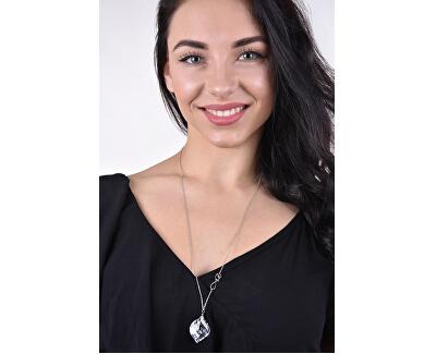 Silber Halskette mit Kristall Faith 6025 61