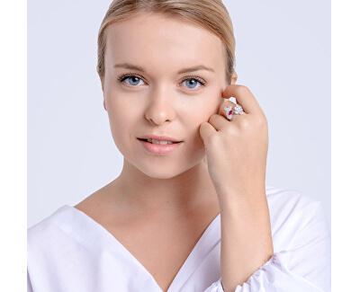 Trblietavý prsteň Libra 5243 55