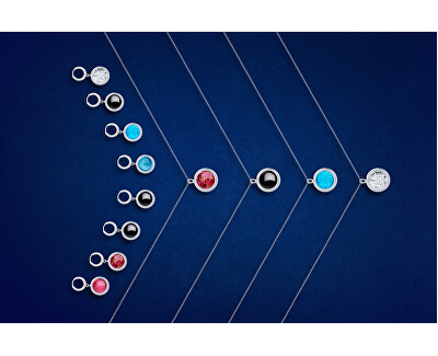 Unikátny strieborný náhrdelník Singularis Roza 6116 69 (retiazka, prívesok)