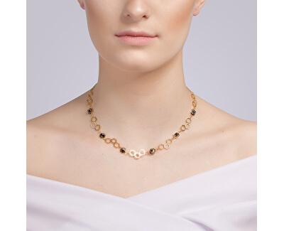 Colier din oțel aurit cu cristalHoneygon 7380Y48