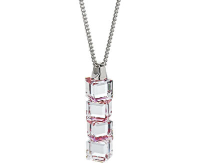 Stříbrný náhrdelník Lilien Red 6230 63L (řetízek, přívěsek)