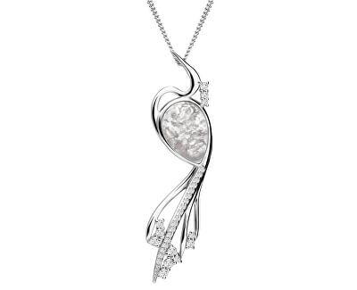 Elegantný náhrdelník Ines Matrix biely 6109 11 (retiazka, prívesok)