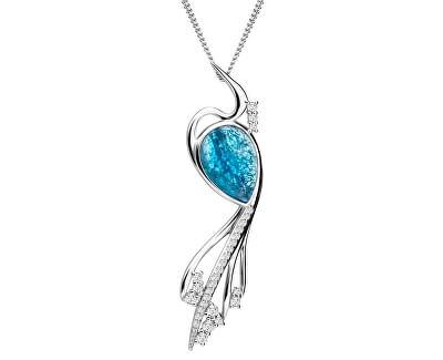 Elegantný náhrdelník Ines Matrix modrý 6109 29 (retiazka, prívesok)