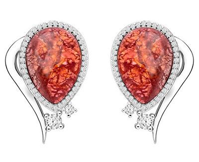 Elegantné náušnice Ines Matrix ružové 6111 69