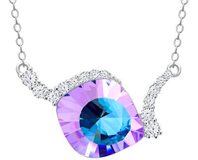 Jedinečný strieborný náhrdelník Pavo Vitrail Light 6118 43