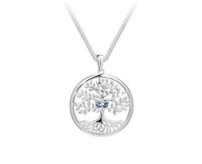 Krásný stříbrný náhrdelník Strom života Sparkling Tree of Life 5329 00 (řetízek, přívěsek)