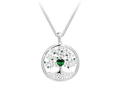Krásný stříbrný náhrdelník Strom života Sparkling Tree of Life 5329 66 (řetízek, přívěsek)