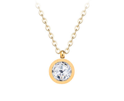 Minimalistický pozlacený náhrdelník Essential s kubickou zirkonií 7433Y00