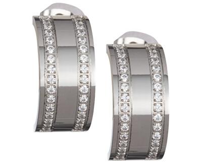 Cercei Mia oțel cu cristale clare 7225 00