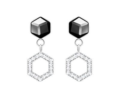Cercei din oțel cu cristalHoneygon 7383 48