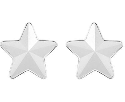 Oceľové náušnice s matnou hviezdičkou Virgo 7343 10
