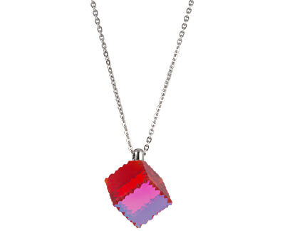 Colier din oțel cu cristal roșu Jaclyn 7262 57