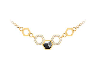 Colier din oțel cu cristalHoneygon 7382Y48