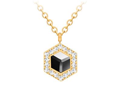 Colier placat cu aur cu cristalHoneygon 7384Y48