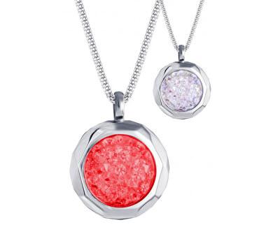 Colier din oțel cu cristale 7313 Color Duo 63