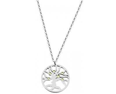 Oceľový náhrdelník s kryštálmi Olive 7335 53