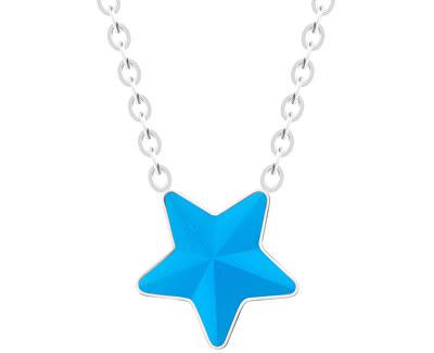 Oceľový náhrdelník s matnou hviezdičkou Virgo Akva 7342 77
