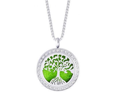 Edelstahl Halskette mit Zirkonia Perfumed Tree of Life 7301 00
