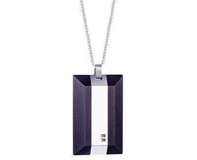 Pánský ocelový náhrdelník s krystaly Arne 7314 40