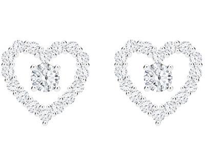 Romantické stříbrné náušnice First Love s kubickou zirkonií Preciosa 5303 00