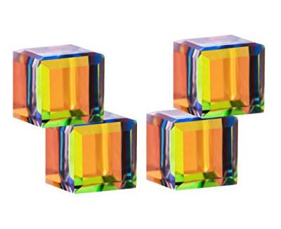 Cercei de argint cu cristale de cristal Cuburi 6063 41