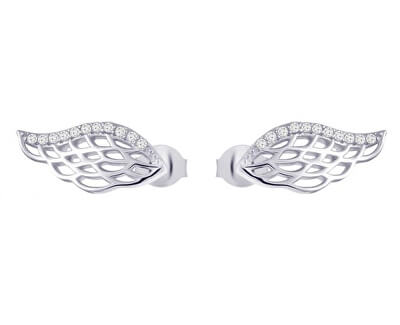 Cercei de argint cu zirconiuAngel Wings 5218 00