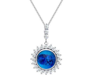 Stříbrný náhrdelník Camellia 6106 68 (řetízek, přívěsek)