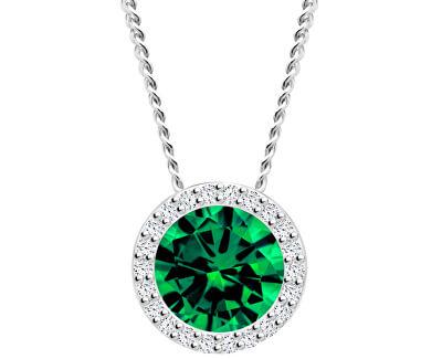 Strieborný náhrdelník Emerald 5268 66 (retiazka, prívesok)