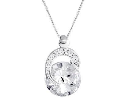 Strieborný náhrdelník Gentle Beauty 6766 00L (retiazka, prívesok)