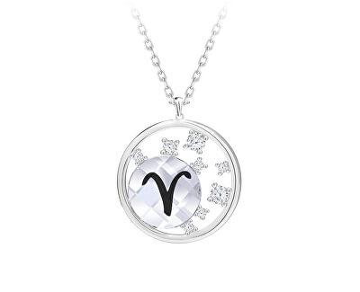 Stříbrný náhrdelník s českým křišťálem Beran Sparkling Zodiac 6150 84 (řetízek, přívěsek)